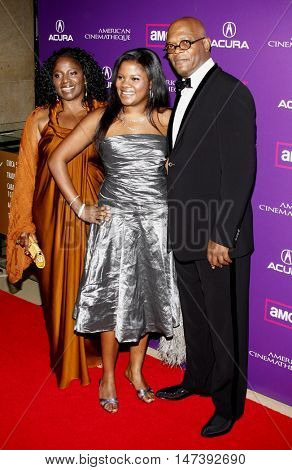 Samuel L. Jackson and LaTanya Richardson at the 23rd Annual American Cinematheque Award Ceremony Honoring Samuel L. Jackson held at the Beverly Hilton Hotel in Beverly Hills, USA on December 1, 2008.