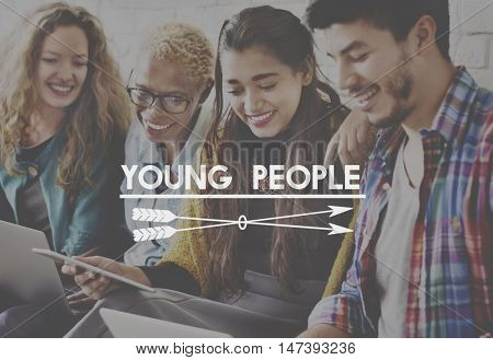 Young People Adolescence Generation Youth Concept