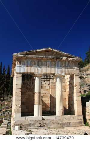 Sanctuary of Athena Pronaia of oracle delphic, Greece