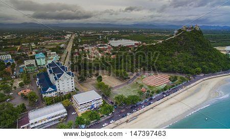 aerial view of khao chong krachok prachaupkhirikan province southern of thailand