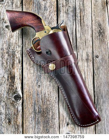 American cowboy 45 pistol sometimes called a hogleg.