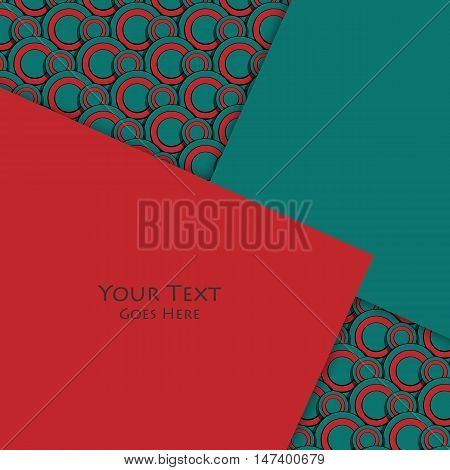 Unusual modern material design vector background over seamless pattern. Geometric shapes. Eps10 vector illustration