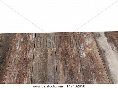 Wooden background textur and clipping path isolated on white background: copy space for add text above and may be used as background :