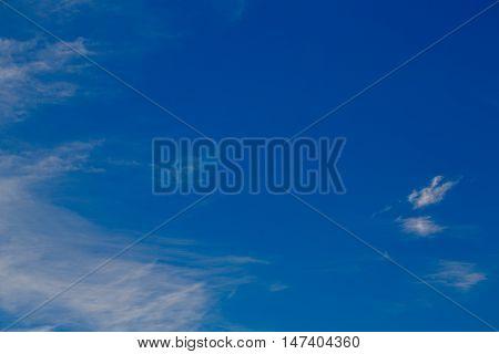 Cumulus clouds against a blue sky. Mostly Cloudy.