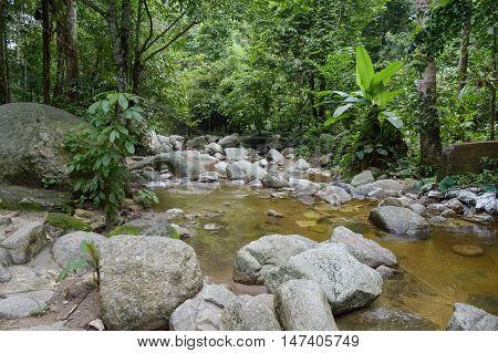 chan ta then waterfall in Bang Phra, Sriracha, Chonburi, Thailand.