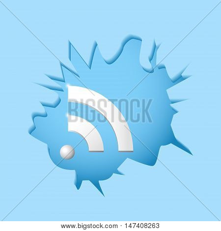 Wi-fi breaks barriers concept of universally accessible Internet 2d vector illustration eps 10