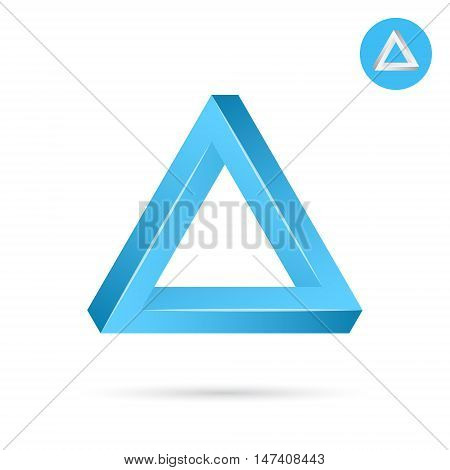 Delta letter icon triangle shape 3d vector illustration on white background eps 10