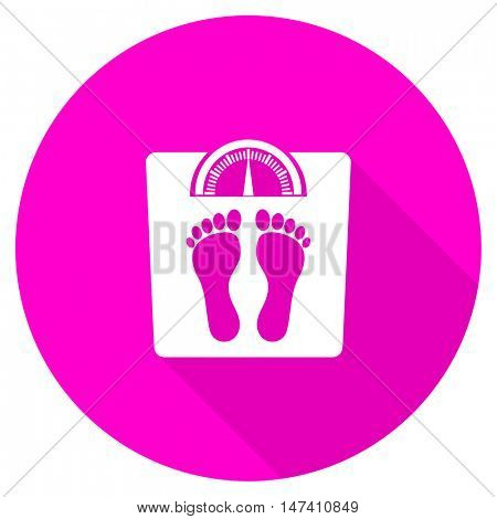 weight flat pink icon