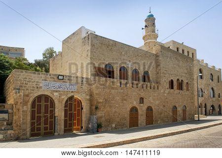 TEL AVIV, ISRAEL - August 24, 2016: Al Bahr Mosque in the Old City of Jaffa on august 24, 2016 Tel Aviv, Israel