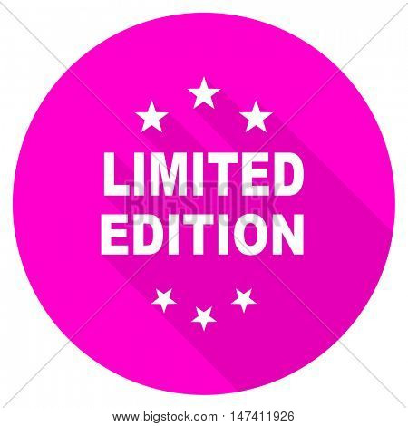 limited edition flat pink icon