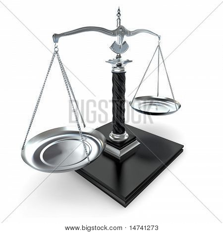 Symbol Of Justice. Scale. 3D
