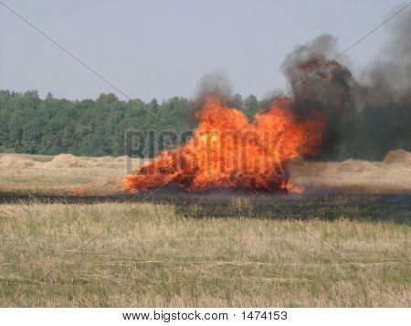 Burning Haystack