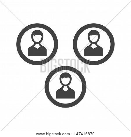 Team, member, social icon vector image. Can also be used for web. Suitable for mobile apps, web apps and print media.