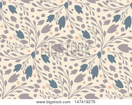 Organic floral pattern in calm muted colors