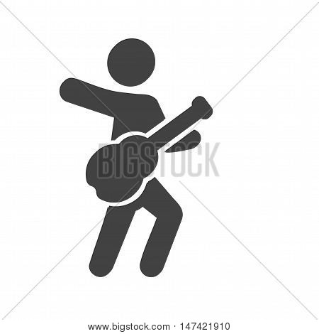 Guitar, player, musicians icon vector image. Can also be used for people. Suitable for web apps, mobile apps and print media.