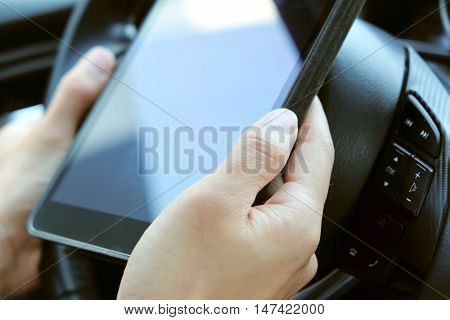 close up of People using digital tablet, Social networking