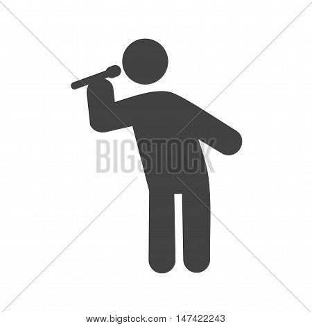 Singer, concert, star icon vector image. Can also be used for people. Suitable for web apps, mobile apps and print media.