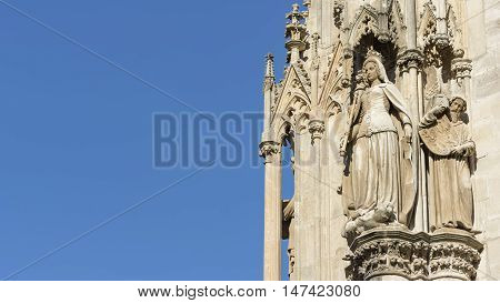 Detail Of Statues From St. Stephen's Cathedral, Vienna, Austria