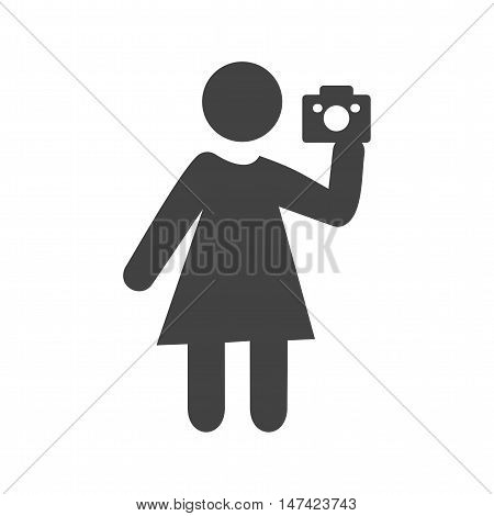 Pictures, photographer, camera icon vector image. Can also be used for people. Suitable for use on web apps, mobile apps and print media.