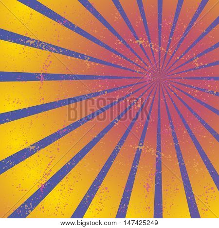 Radiating, converging lines, rays. Bright star burst, sunburst background.