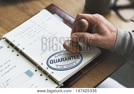 Guarantee Assurance Quality Warranty Certified Concept