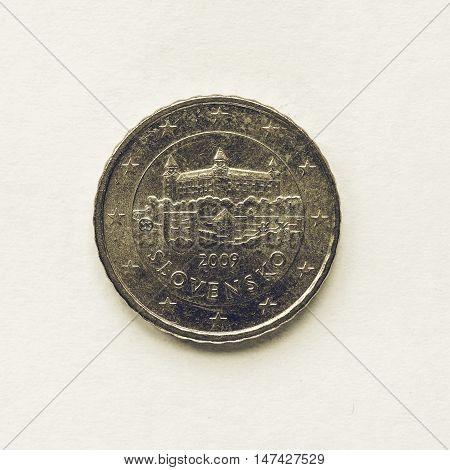 Vintage Slovak 10 Cent Coin