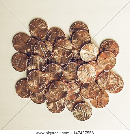 Vintage Dollar Coins 1 Cent