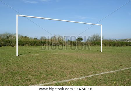 A British Park Football Pitch Goal Posts.