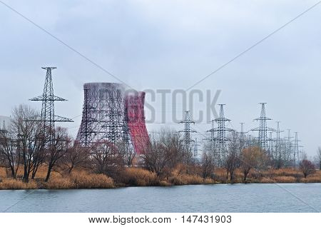 Thermal power plant in the cold season