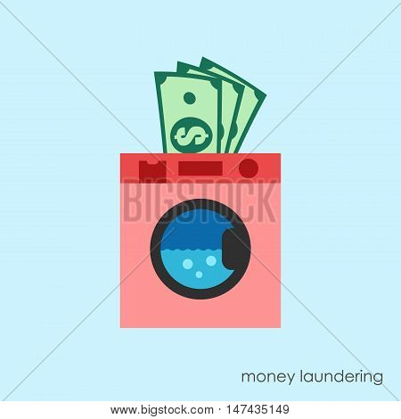 Money laundering concept. Tax paying. Legal business.