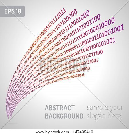 Digital code background abstract vector illustration. Binary computer code.