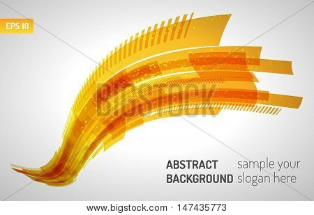 Moving colorful abstract background. Abstract technology lines. Wave lines