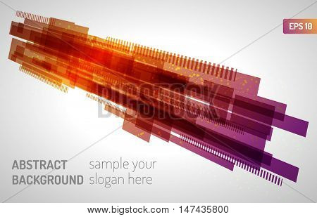 Moving colorful abstract background. Abstract technology lines.