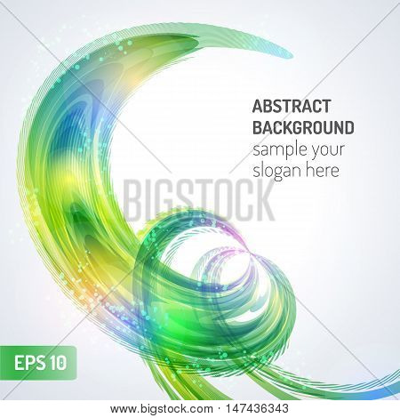 Abstract wave vector background. Colorful abstract vector background