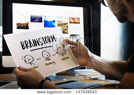 Brainstorm Creative Thinking People Concept