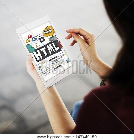 HTML Web Page Content Graphic Concept
