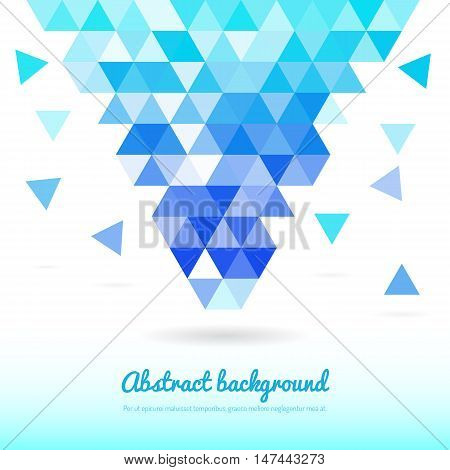 Abstract template background with triangle shapes. Vector color abstract geometric banner