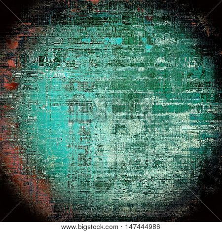 Spherical art grunge texture, vintage abstract background for creative design. With different color patterns: green; blue; black; cyan; white; pink