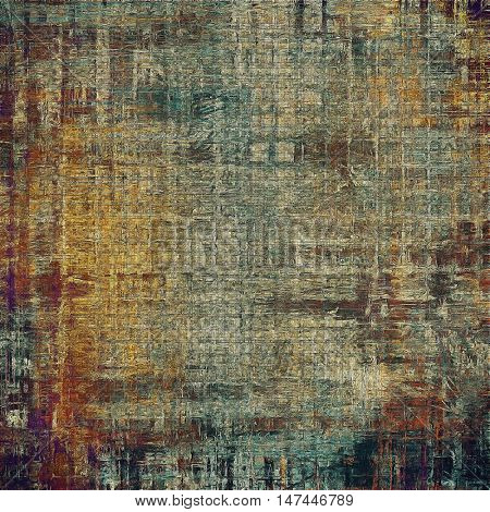 Art grunge texture for creative design or scrap-book. With vintage style decor and different color patterns: yellow (beige); brown; gray; blue; purple (violet); black