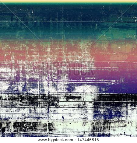 Retro abstract background, vintage grunge texture with different color patterns: green; blue; purple (violet); black; cyan; white