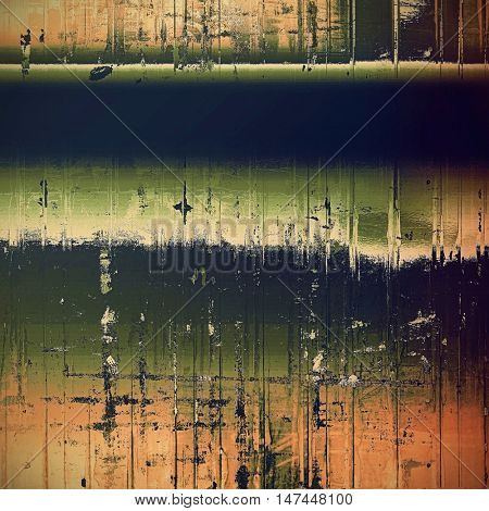 Distressed texture with ragged grunge overlay. Wrinkled background or backdrop with different color patterns: yellow (beige); brown; gray; green; blue; red (orange)