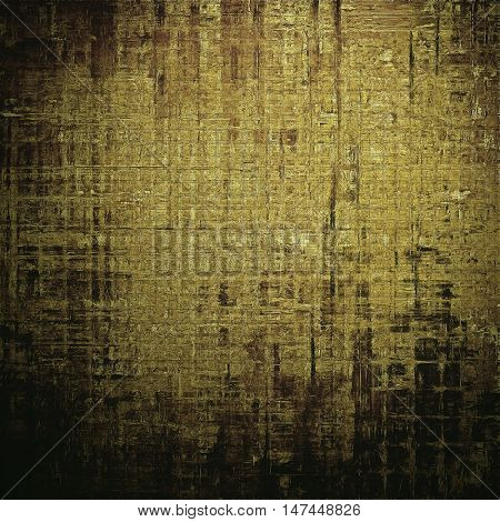 Abstract grunge background or aged texture. Old school backdrop with vintage feeling and different color patterns: yellow (beige); brown; gray; black