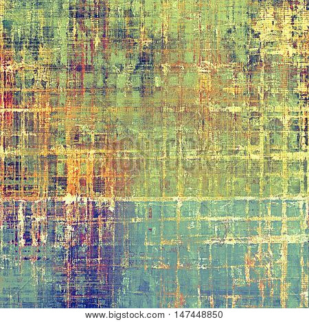 Old abstract texture used as shabby grungy background. With different color patterns: yellow (beige); brown; green; red (orange); purple (violet); cyan