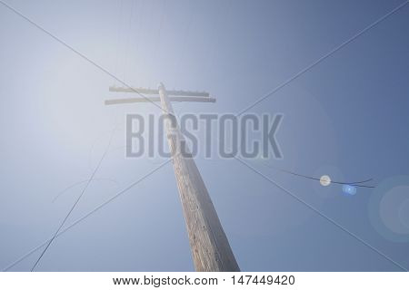 Electricity Telephone Pole