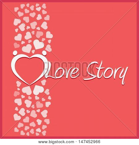 Love story. Vector illustration. Love, hearts. Valentines day. Be my valentine. 14 february.