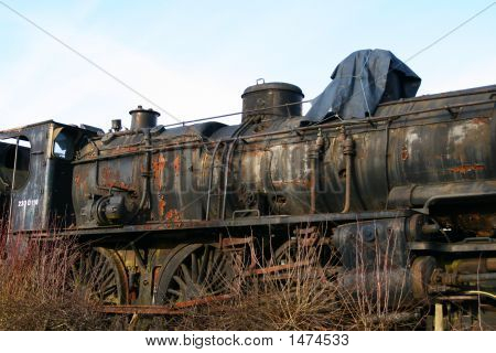 Derelict Railway Locomotive