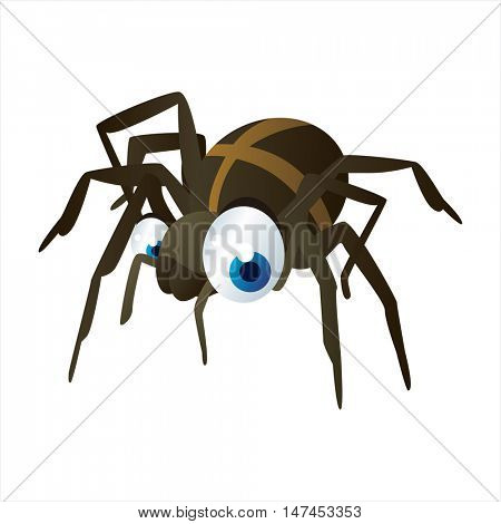 vector cartoon cute animal mascot. Funny colorful cool illustration of happy Spider