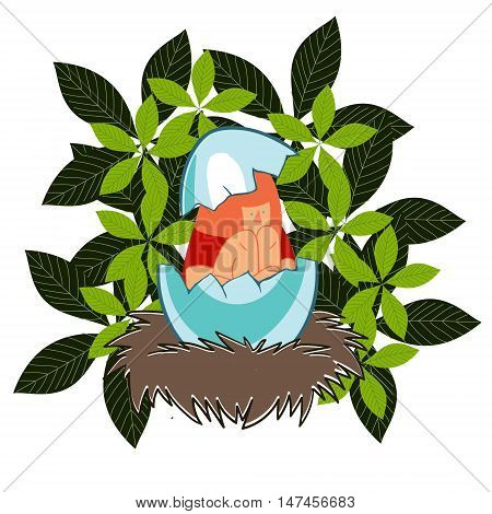 cute colored vector illustration with an original plot