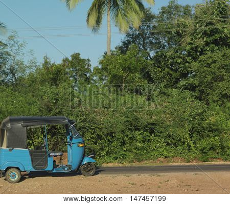 Rickshaw in jungle