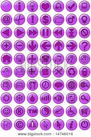 Web Icons in purple